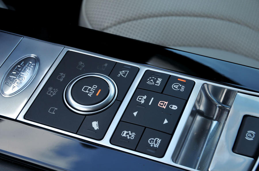Land Rover Discovery terrain controls