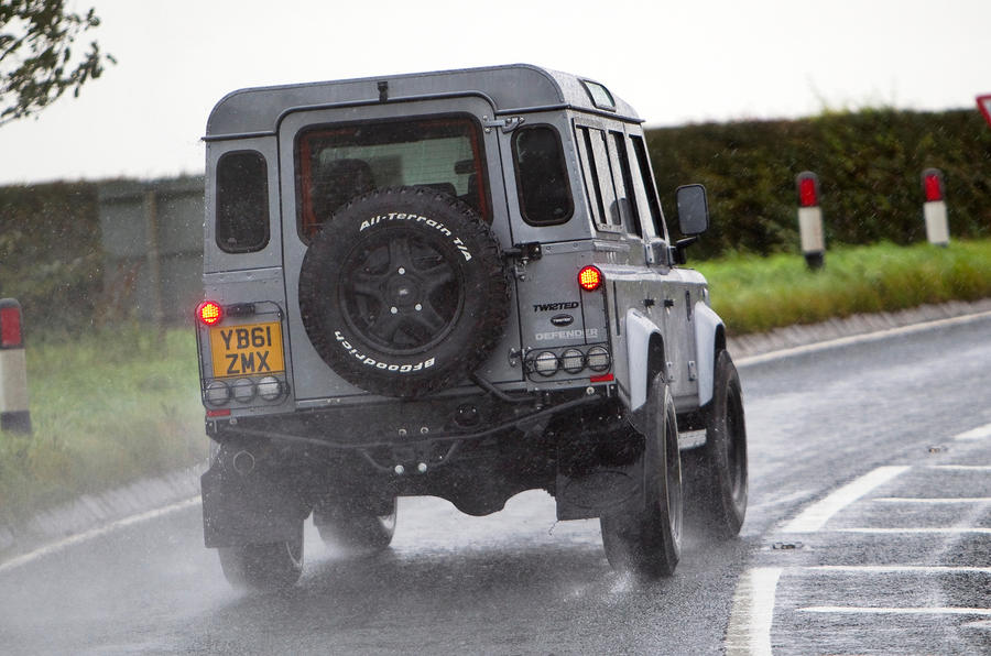 Twisted Defender 110 rear end
