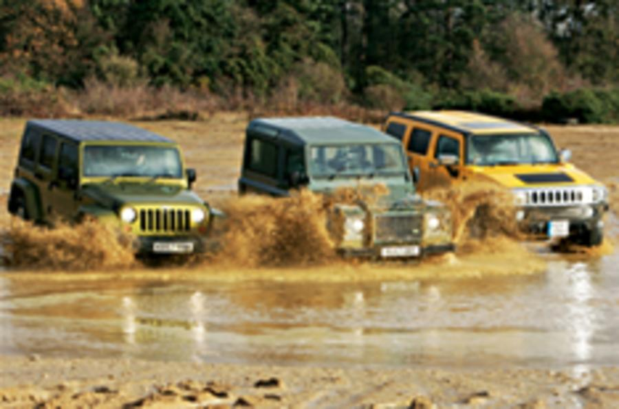 On video: Hummer vs Land Rover vs Jeep