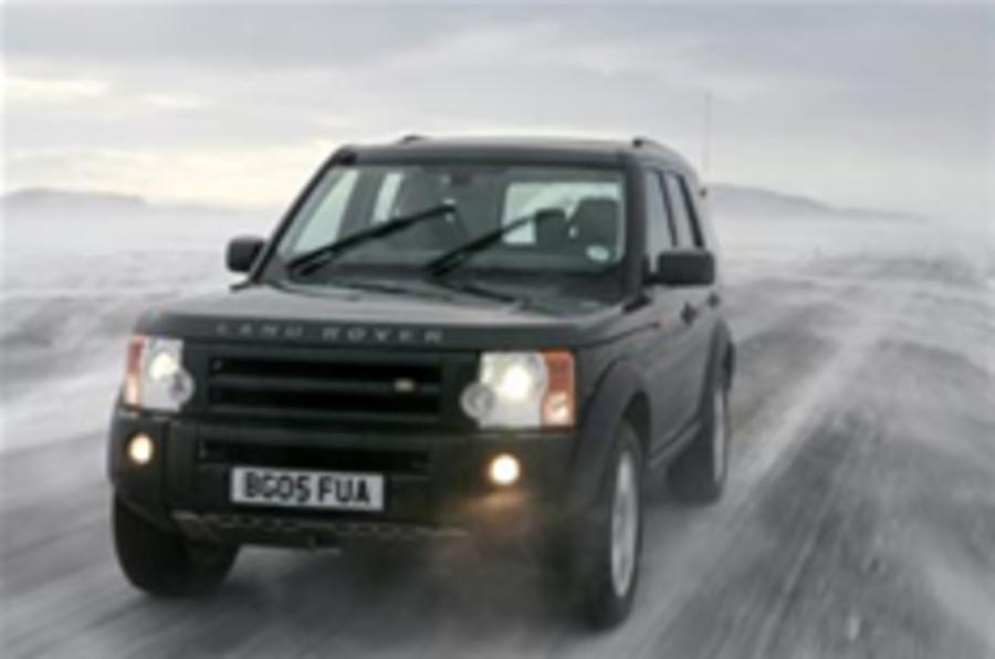 Land Rover's winter welcome