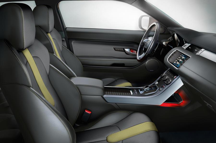 Range Rover Evoque: interior details