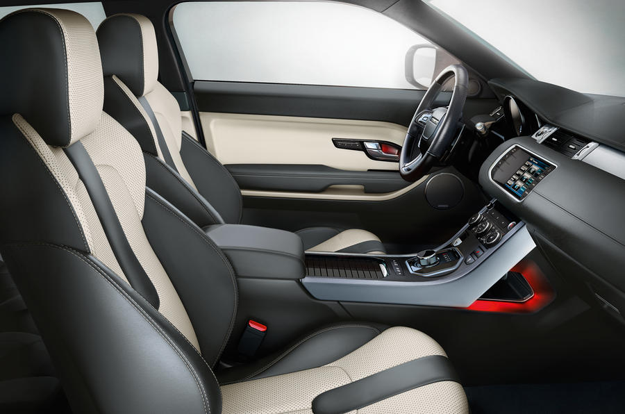 range rover evoque interior details autocar. Black Bedroom Furniture Sets. Home Design Ideas