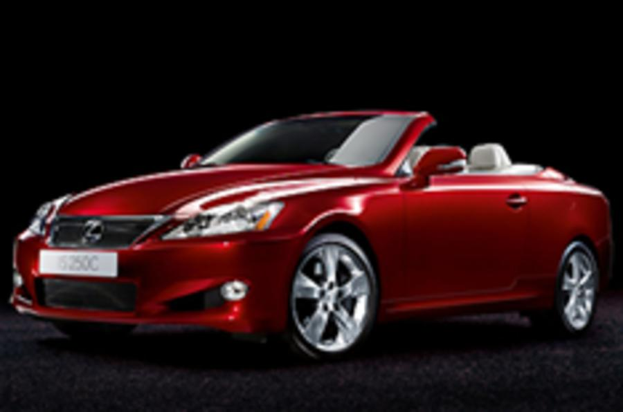 Convertible Lexus IS to cost £30k
