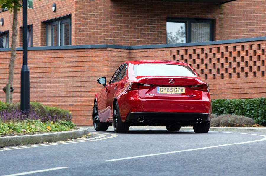Lexus IS rear cornering
