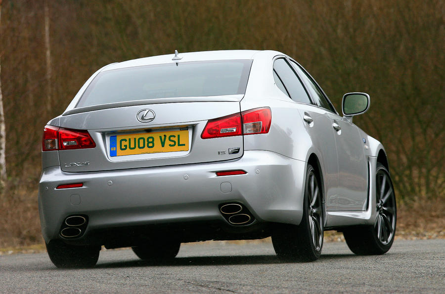 Lexus IS-F rear cornering