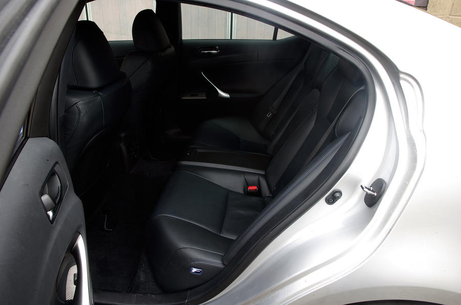 Lexus IS-F rear seats