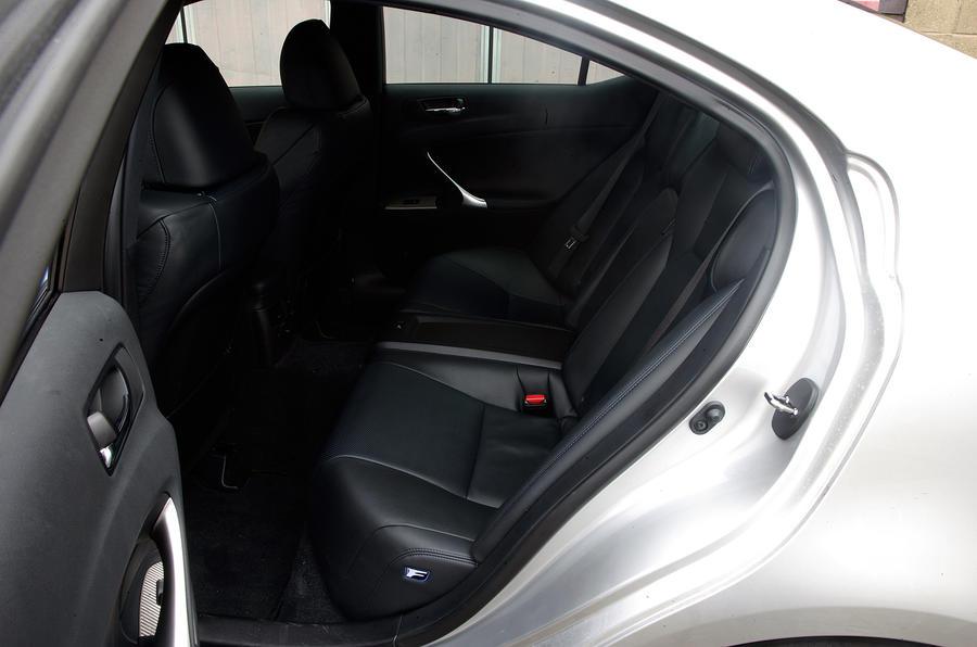 Lexus IS-F rear seats
