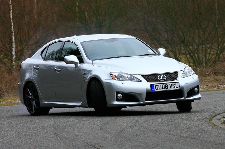 Lexus IS-F drifting