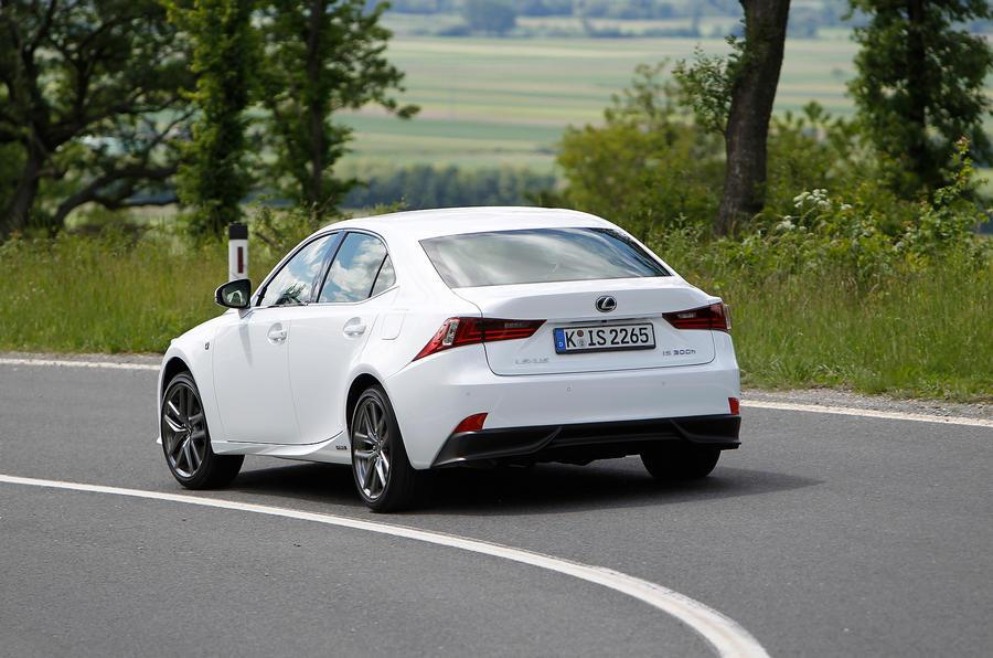 Lexus IS300h hard rear cornering