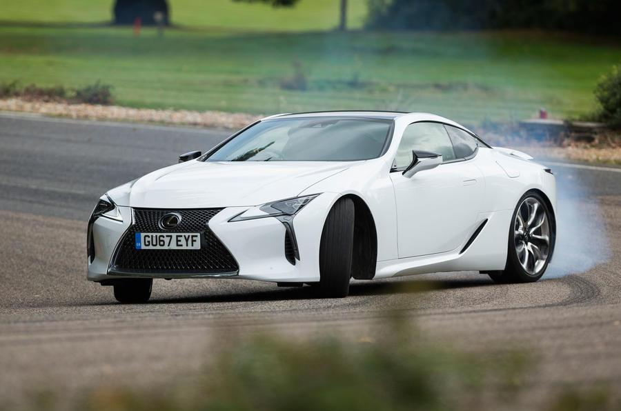 Lexus LC500 drifting