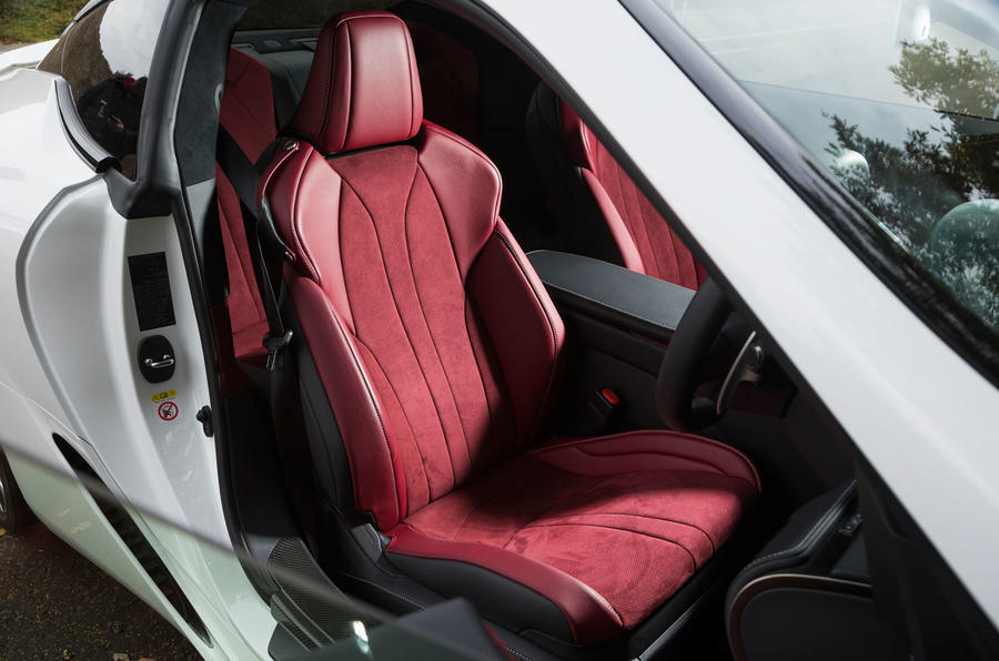 Lexus LC500 front sports seats