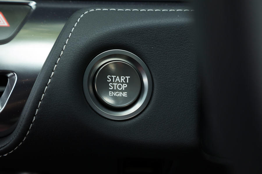 Lexus LC500 ignition button