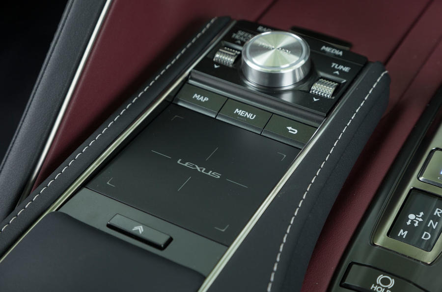 Lexus LC500 infotainment touchpad controller