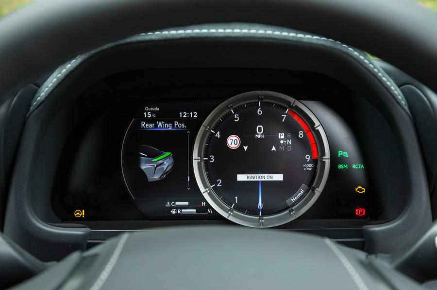 Lexus LC500 instrument cluster