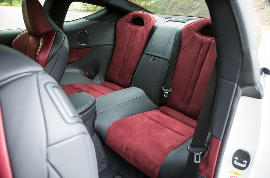 Lexus LC500 rear seats