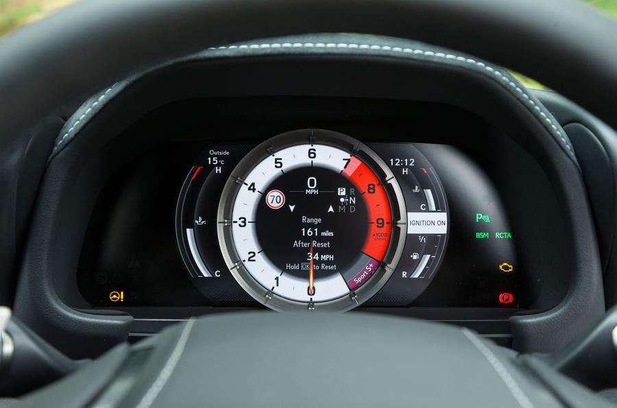Lexus LC500 sports instruments