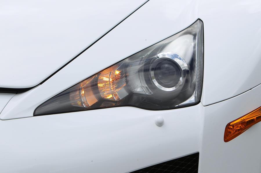 Lexus LFA triangular headlights