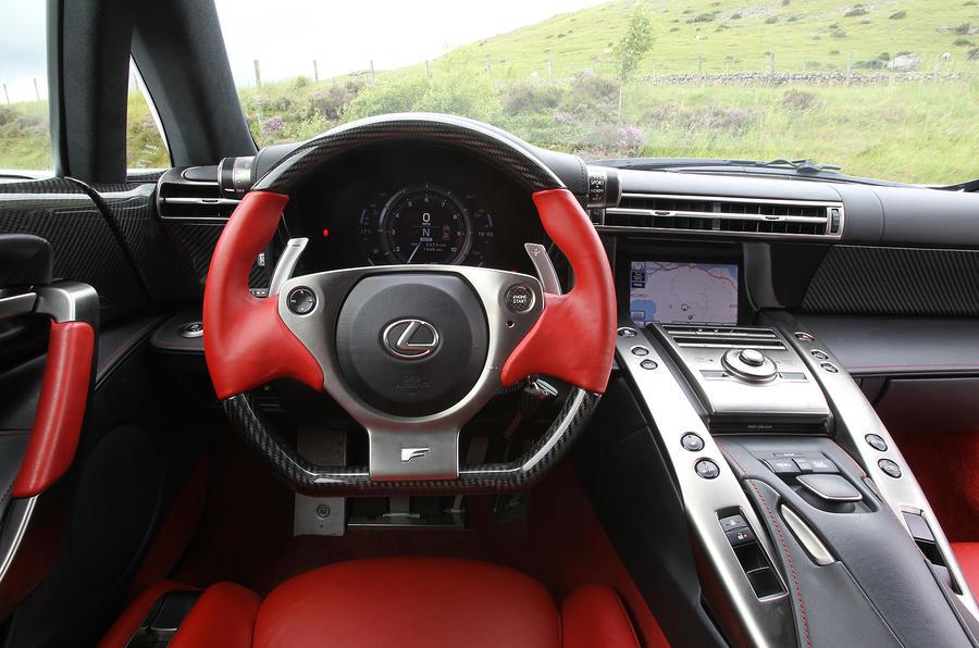 Lexus lfa inside