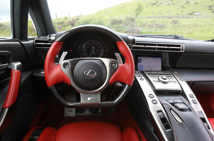 Lexus LFA dashboard
