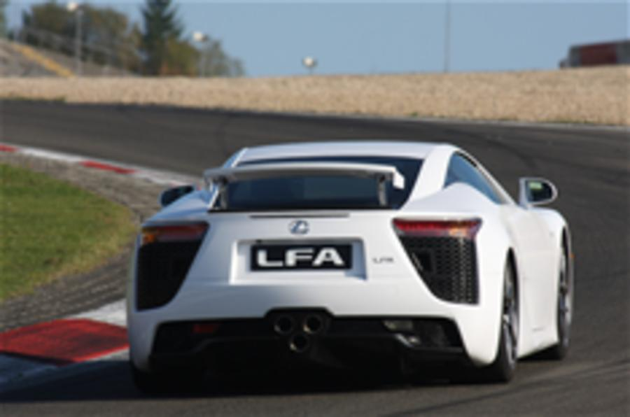 Lexus LFA available in track spec