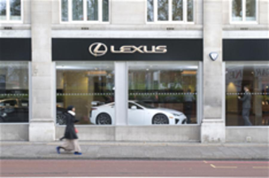 Lexus LFA arrives in London
