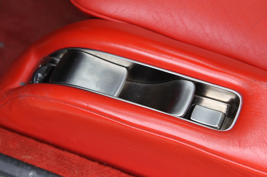 Lexus LFA seat adjustment controls