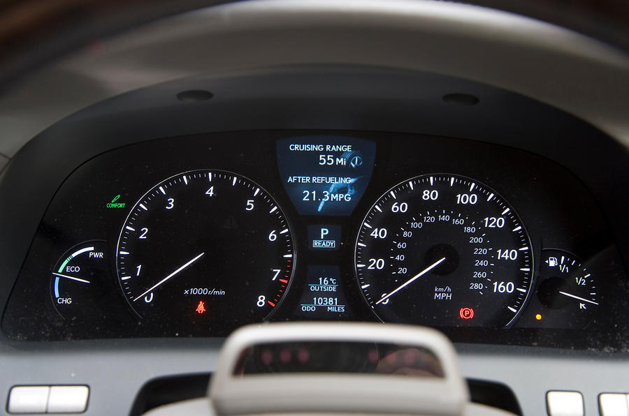 Lexus LS instrument cluster