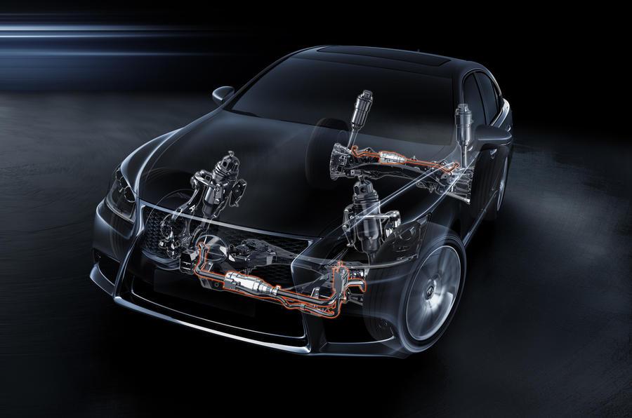 Lexus LS cornering