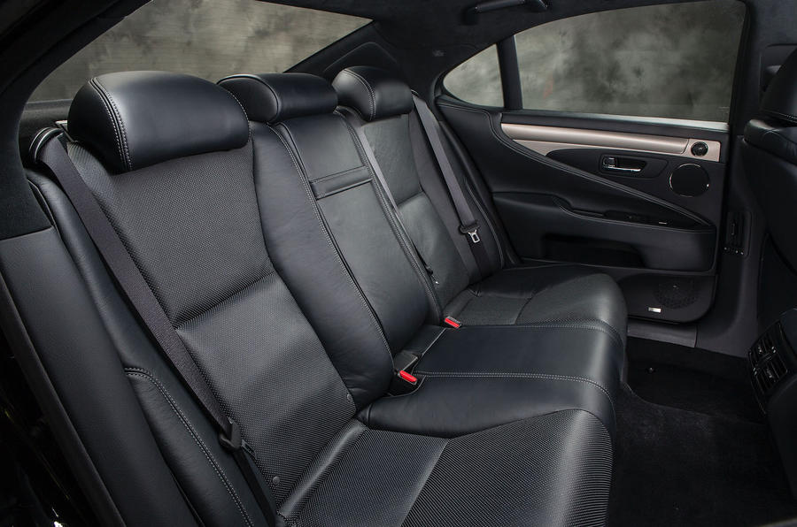 Lexus LS460 rear seats