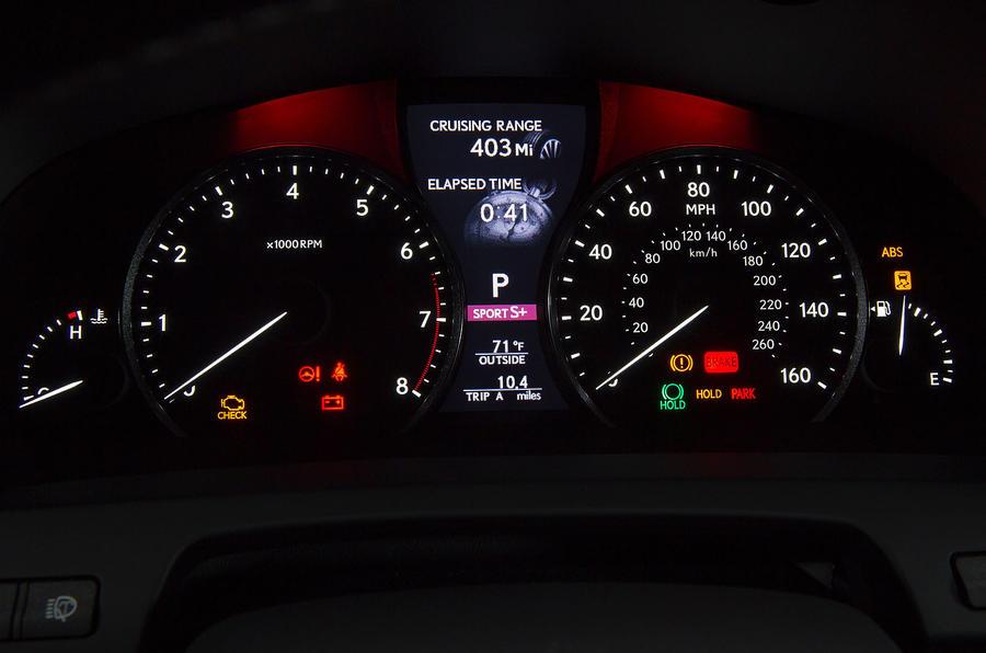 Lexus LS460 instrument cluster