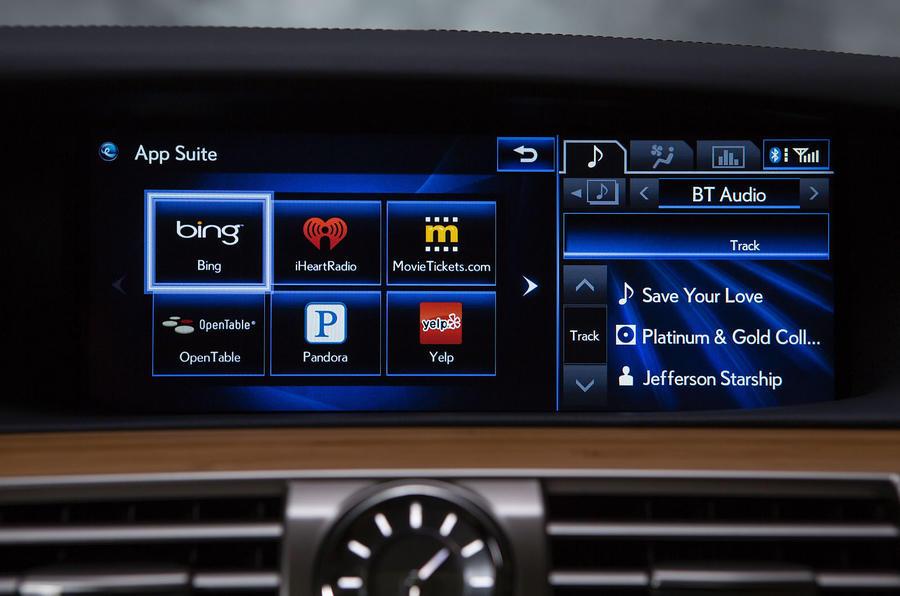 Lexus LS600h infotainment system