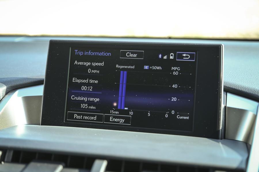 Lexus NX infotainment screen