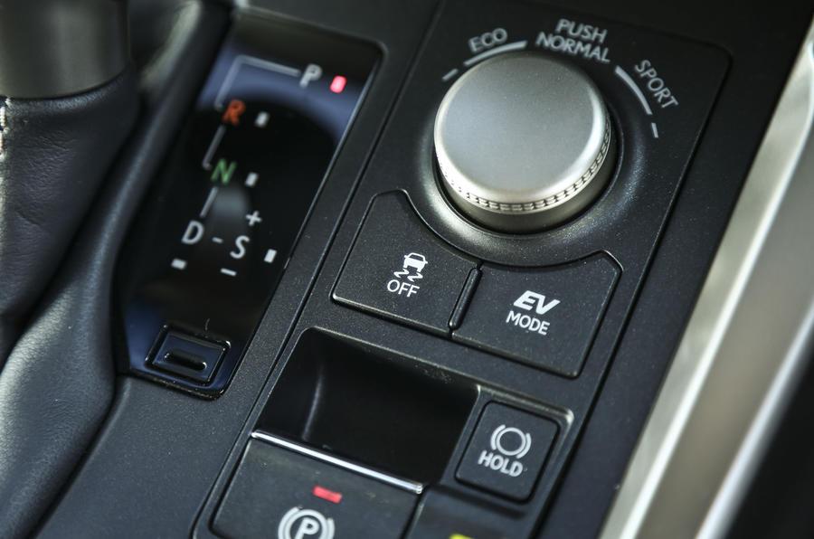 Lexus NX driving mode switch