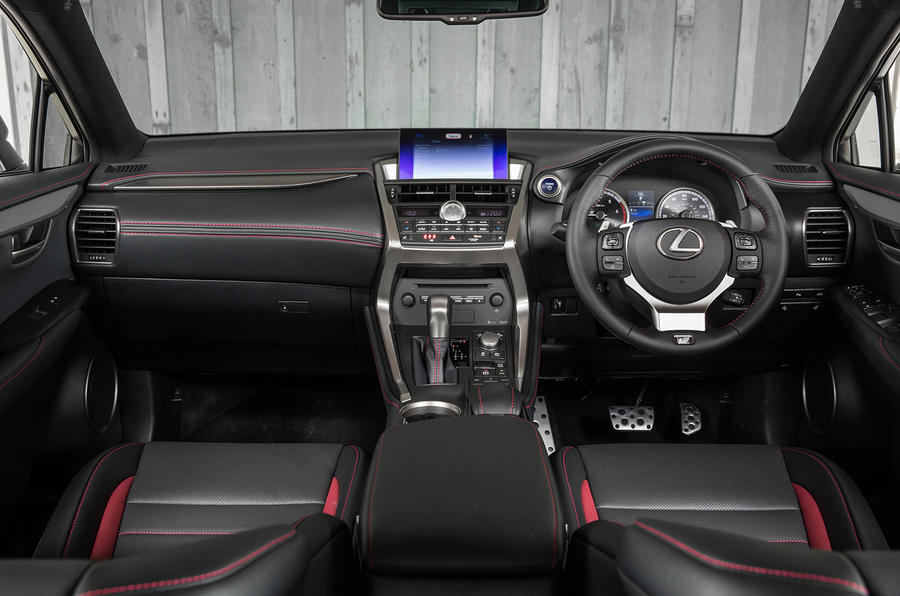 Lexus NX200t F Sport dashboard