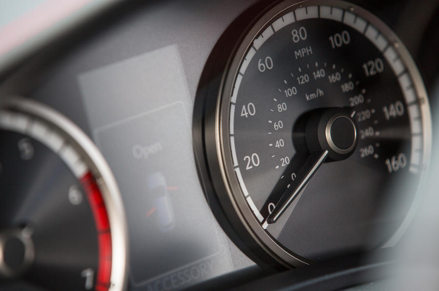 Lexus NX200t F Sport instrument cluster