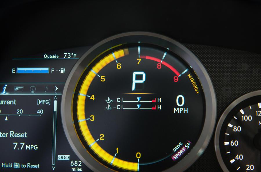 Lexus RC F instrument cluster