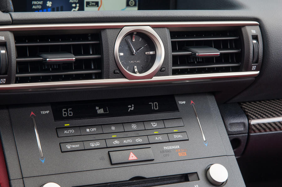 Lexus RC F air vents