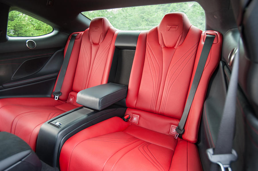 Lexus RC F rear seats