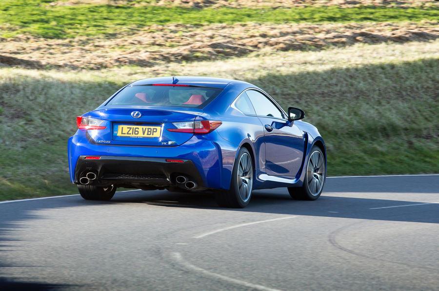 Lexus RC F rear cornering