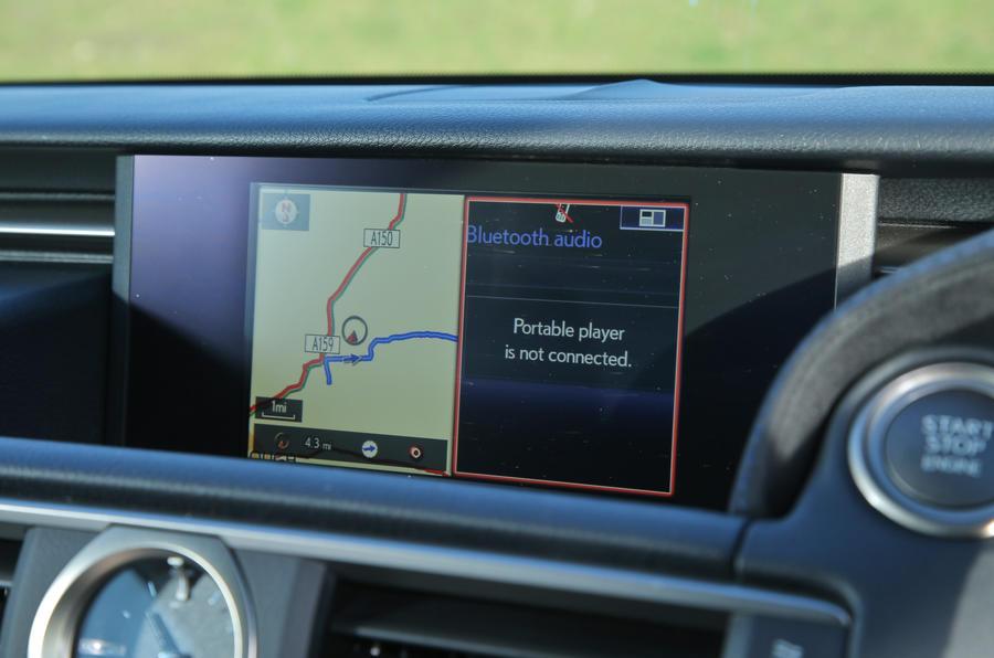 Lexus RC-F infotainment system