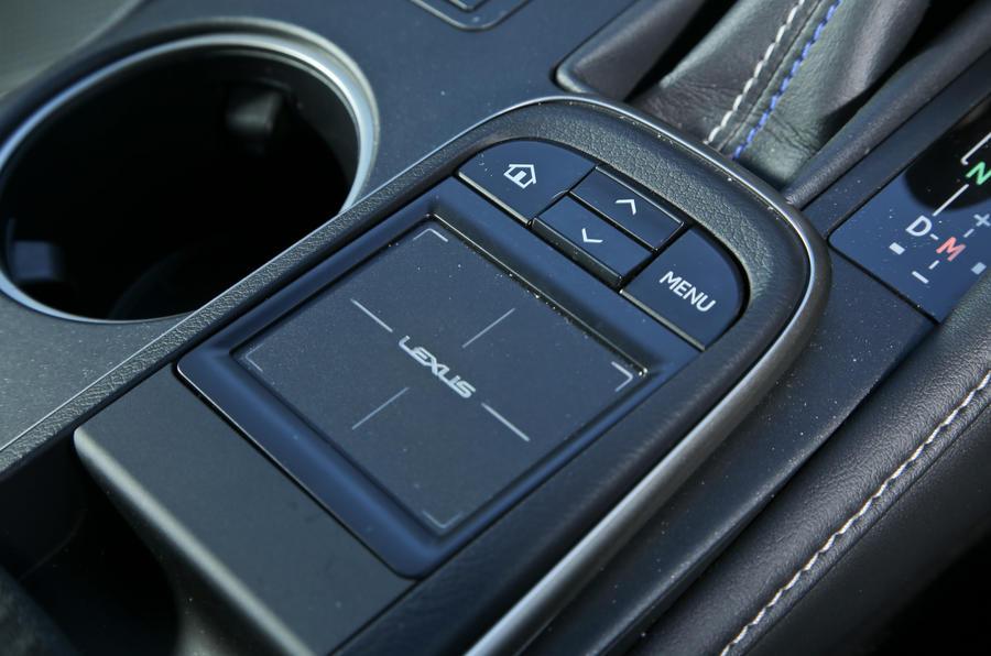 Lexus RC-F infotainment touchpad