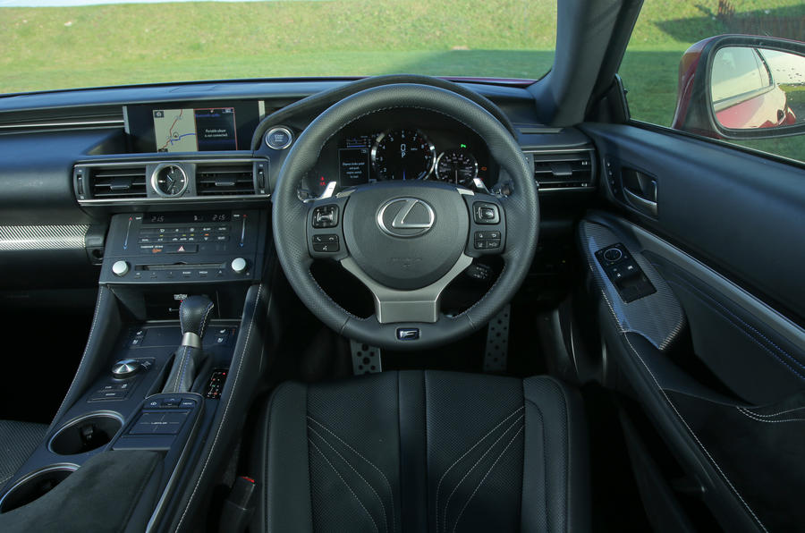 Lexus RC-F dashboard