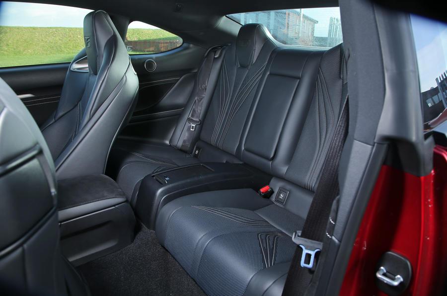 Lexus RC-F rear seats