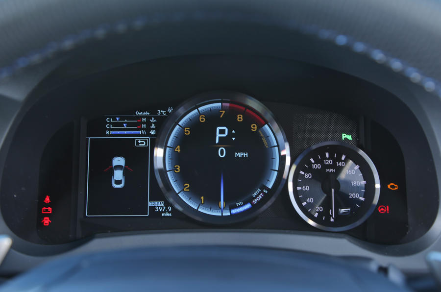 Lexus RC-F digital instrument cluster