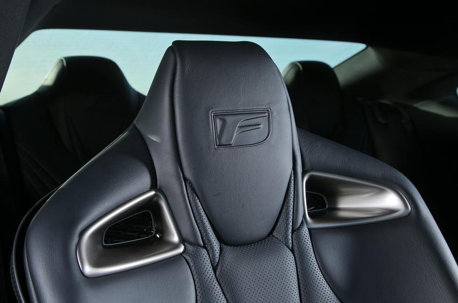 Lexus RC-F stitched seats