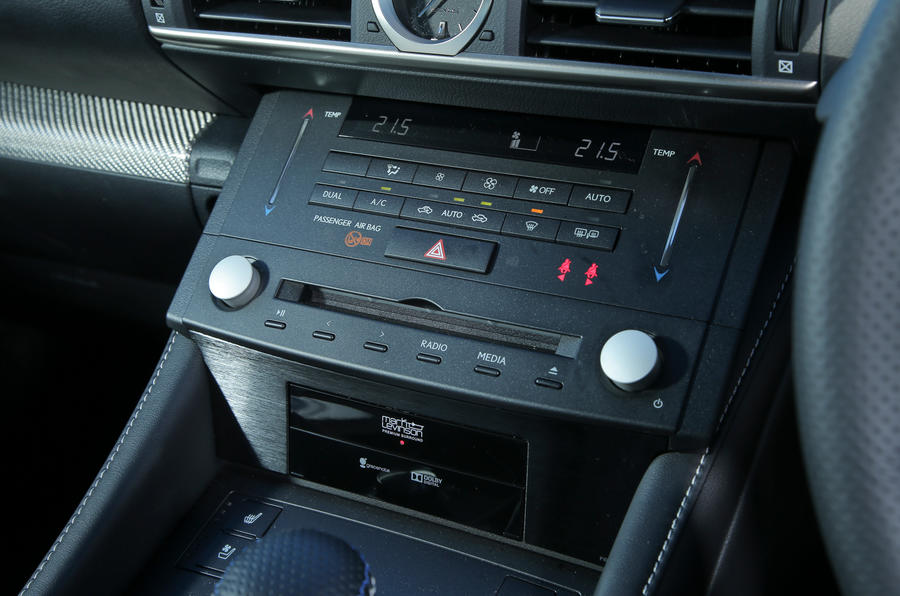Leus RC-F centre console switchgear