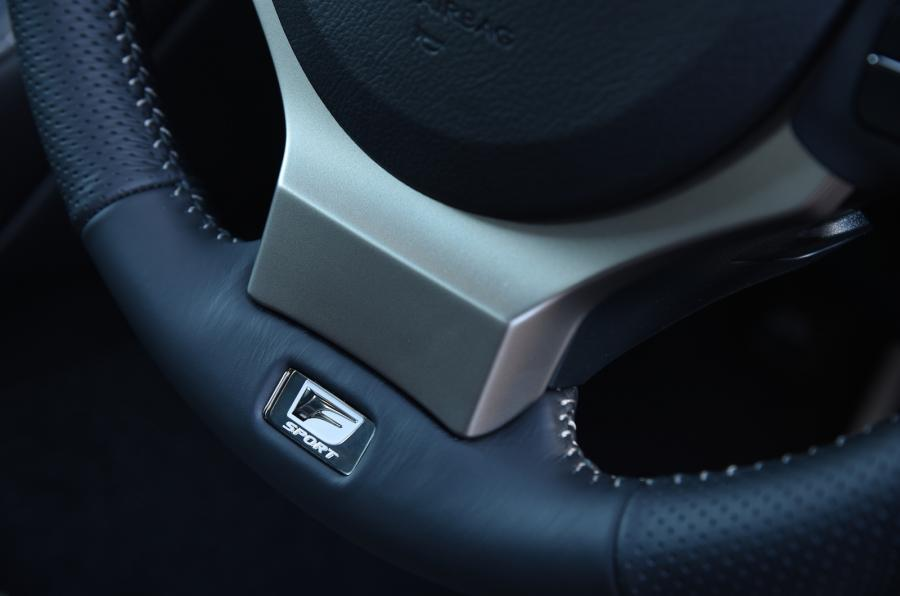 Lexus RC steering wheel badging