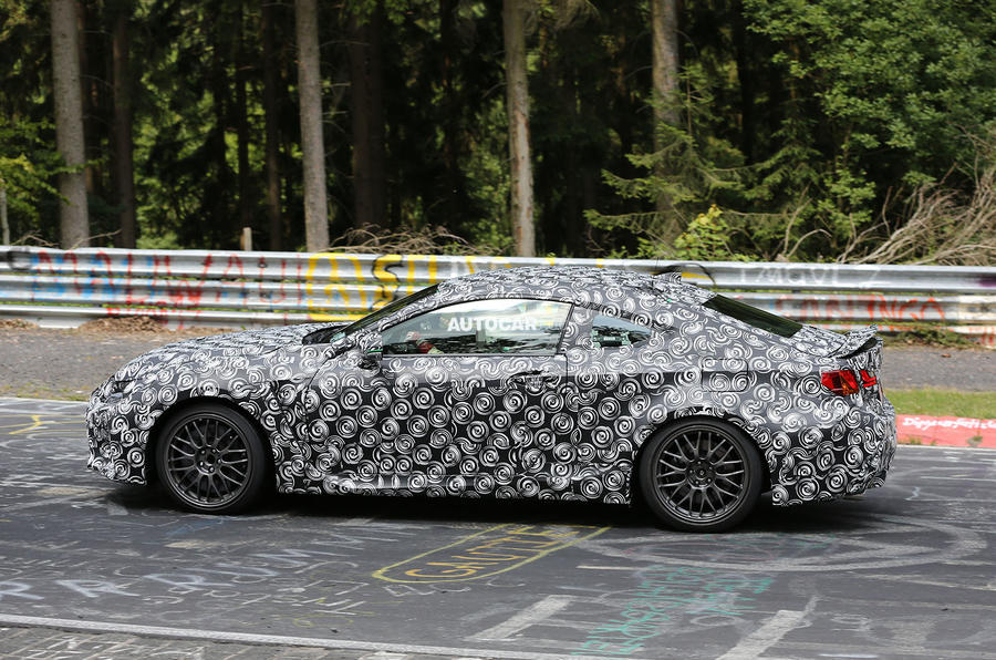 Lexus RC-F coupe spotted testing in Germany