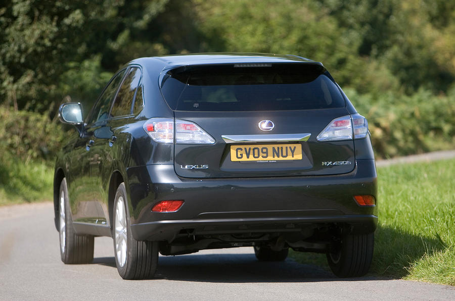 Lexus RX rear cornering