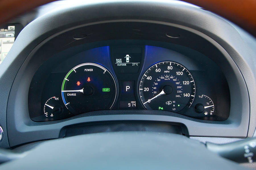 Lexus RX instrument cluster